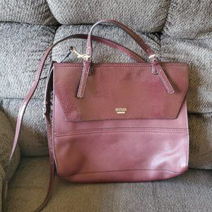 GUESS Burgundy Leather Purse